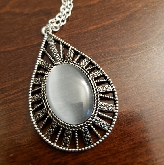 Moonstone Long Chain Necklace